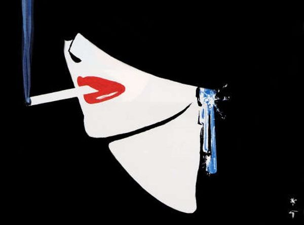 'Fashion Exhibition by René Gruau (1909 - 2004) http://bertc.com/subfour/i9/nine_11.htm