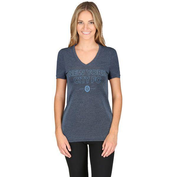 New York City FC adidas Women's climacool Aeroknit Club Authentic T-Shirt - Navy - $39.99