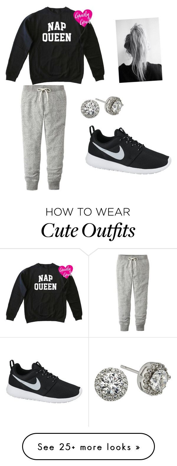 """""""Cute lazy day outfit"""" by ashcollins9 on Polyvore featuring Uniqlo, NIKE and Modern Bride"""