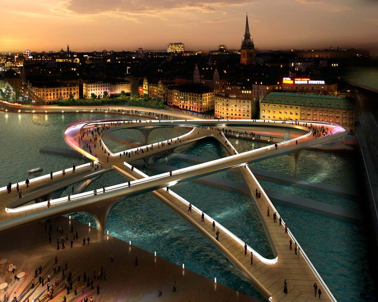 Foster + Partners enters competition to design pedestrian bridge in Slussen | News | Foster + Partners