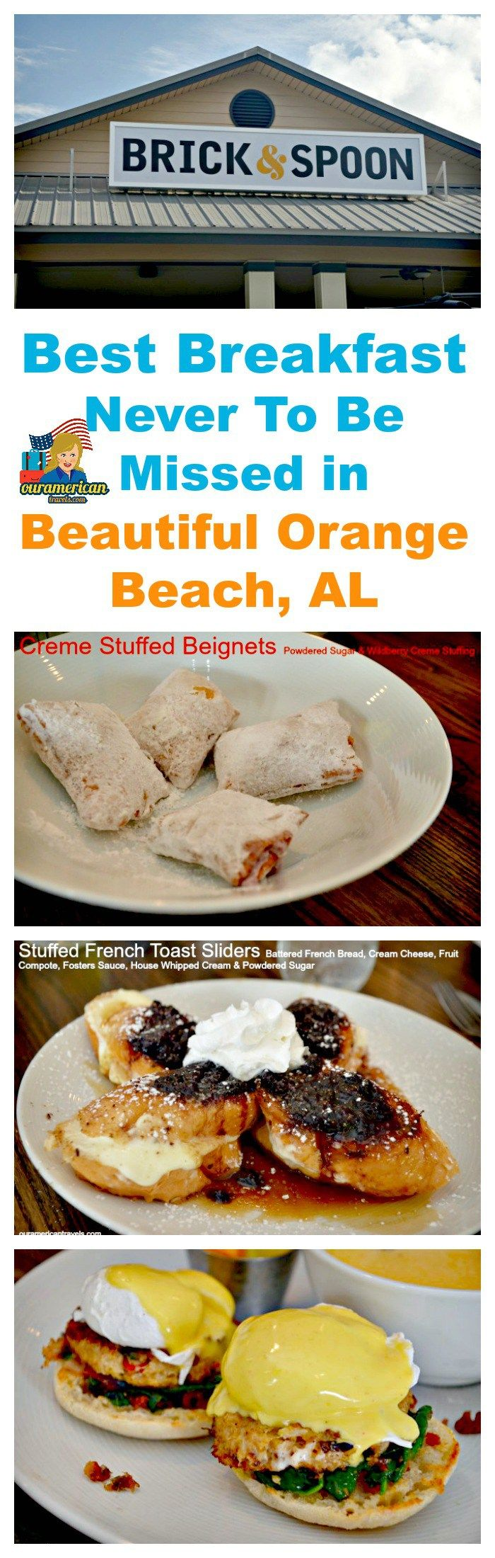 Best Breakfast Never To Be Missed in Beautiful Orange Beach, AL #travel #vacation #beach #Alabama beaches #breakfast #brunch