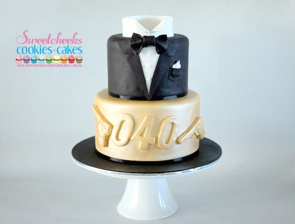 James Bond Cake For A Hence The 040 Instead Of By Sweetcheeks Cookies And Cakes Custom Birthday Corporate Wedding Melbourne