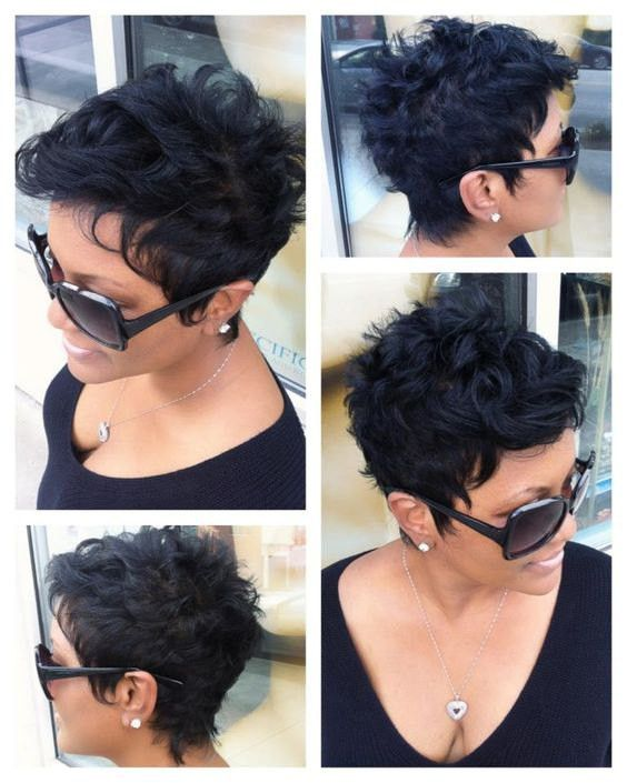 Fluffy Curly Black Capless Stylish Short Women's Synthetic Wig
