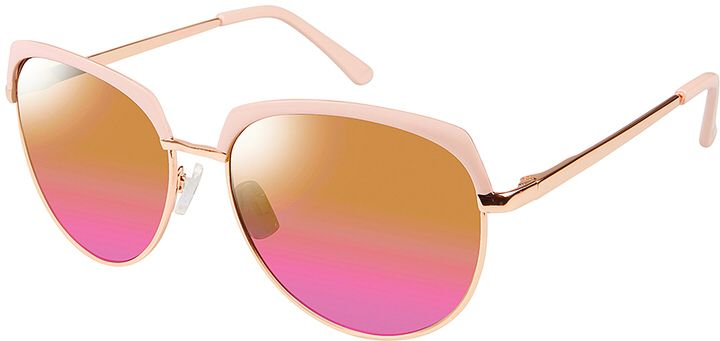 Rose Gold & Rose Browline Sunglasses