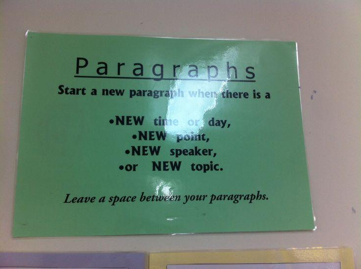 English - writing paragraphs.