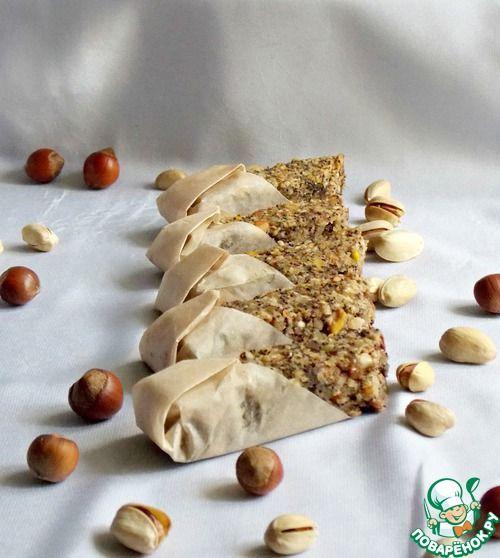 Овсяно-ореховые батончики с маком - кулинарный рецепт