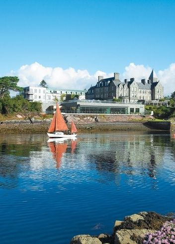 The hotel is at the waterside of Kenmare Bay