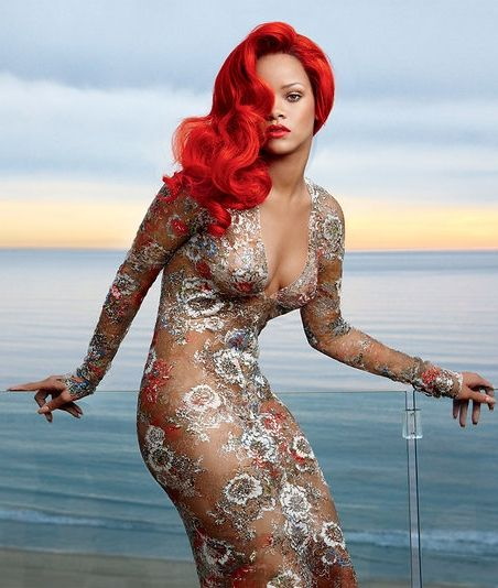 Rihanna photographed by Annie Leibovitz for Vogue, February 2014.