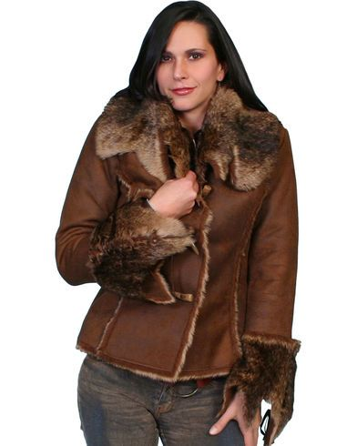 Scully Faux Fur and Suede Jacket, Dark Brown | Scully Faux Fur and Suede Jacket - Country Outfitter