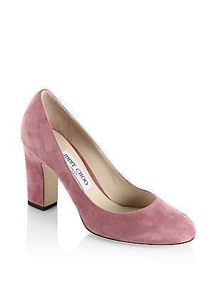 a7e86f294ce1 Jimmy Choo Billie 85 Suede Block Heel Pumps