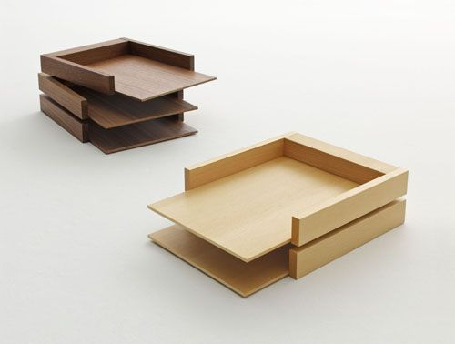 Paper trays by Soichiro Nomiyama  I can build something similar to this...not as nice but can make something and have all my paper nice and neat