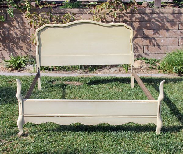 Vintage Chic Double Full  Bed Headboard and Foot board By Foo Foo La La by FooFooLaLaChild on Etsy https://www.etsy.com/listing/175423514/vintage-chic-double-full-bed-headboard