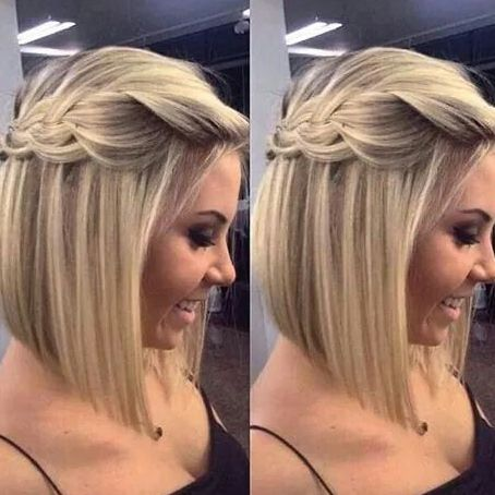 Resultado de imagem para penteados de cabelos curtos para festa