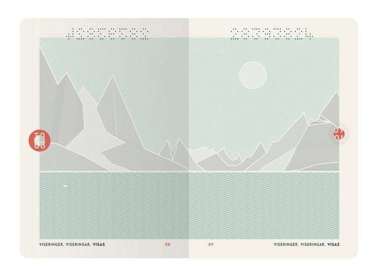 """Norway's government asked designers to submit concepts for a redesigned passport, and Neue Design Studio won with """"The Norwegian landscape."""""""