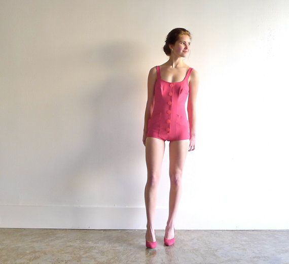 Flamingo+Pink+Bathing+Suit+by+Rose+Marie+Reid+of+by+marybethhale