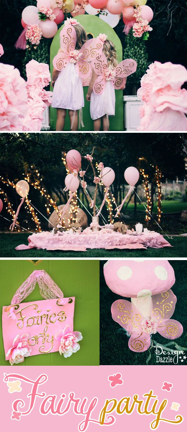 This fairy party cost less than $100 to create. There are lots of CREATIVE and AFFORDABLE do-it-yourself projects that can easily be recreated to make your own fairy party on a budget!! @designdazzle