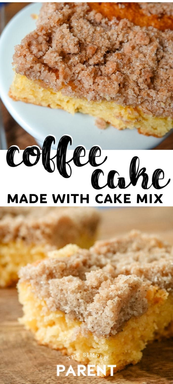Cake Mix Coffee Cake is an easy breakfast recipe to make