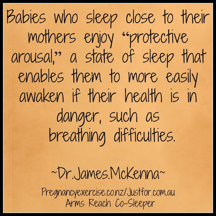 Safe co-sleeping benefits for mum and baby.
