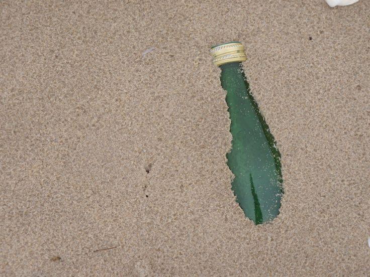dorstig op het strand