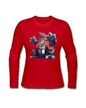 Durable Cotton pokemon bertha Women Long Sleeve O-Neck T-Shirt