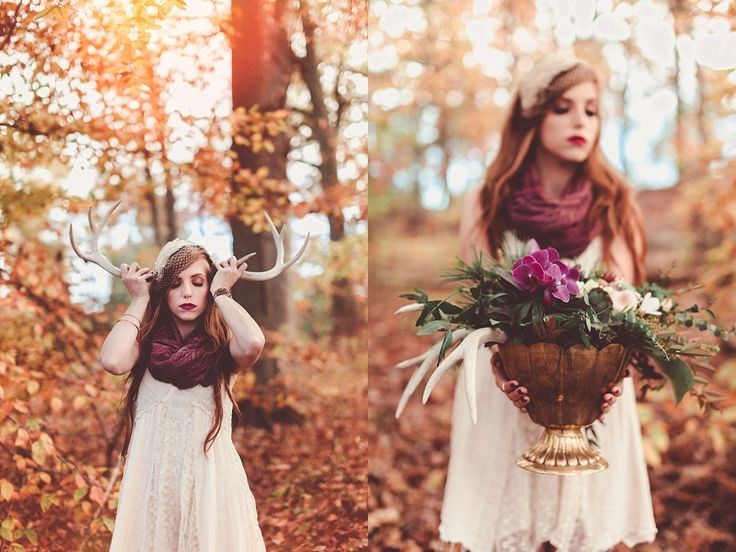 Fall Forest Floor Bridal Shoot