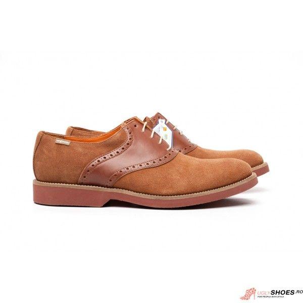 Pantofi pentru barbati din piele, marca Luis Gonzalo.