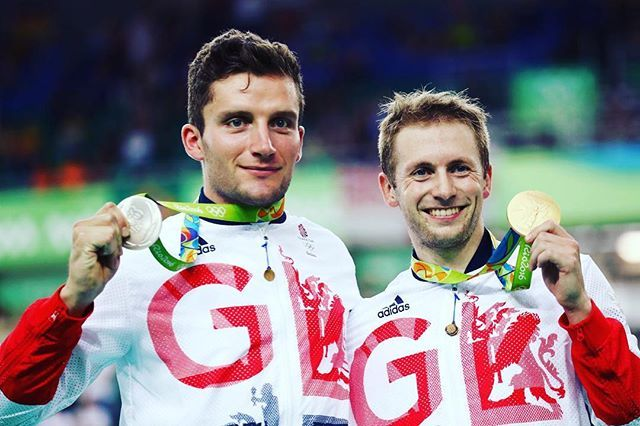 Jason Kenny claims his FIFTH Olympic gold medal with Callum Skinner taking silver.  #gold #silver #Medal #Cycling #Rio2016
