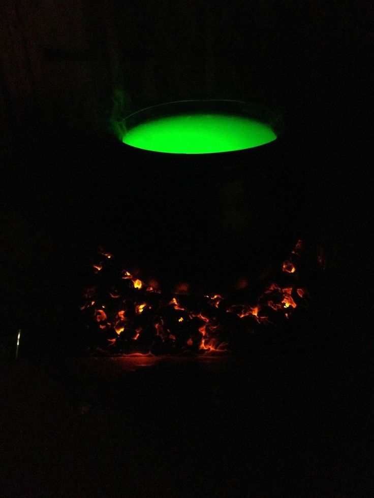 My DIY Witch Cauldron Tutorial. I created a step by step album to show exactly how I created this smoking cauldron with burning coals. :)