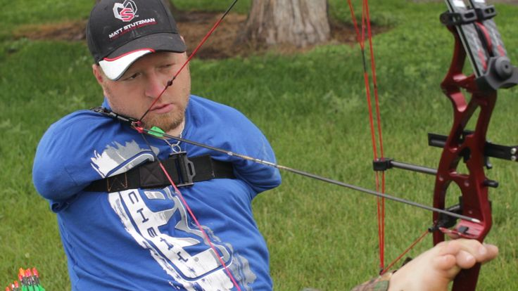 """Matt Stutzman on Archery (As told to Tracy Breen) Matt Stutzman is an avid bowhunter and world-record-holding champion archery. And he was born without arms. How does a guy without arms even start shooting a bow? Watch the video and read on. """"My parents (who adopted me) never put limitations..."""