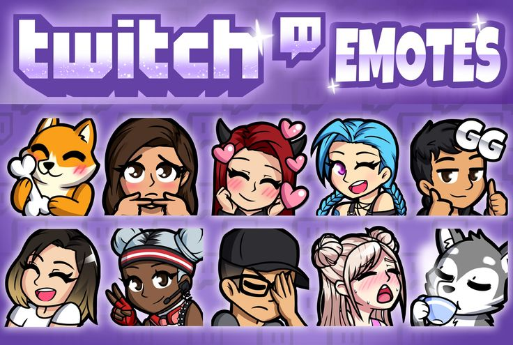 I will create custom twitch emotes and sub badges in 2020