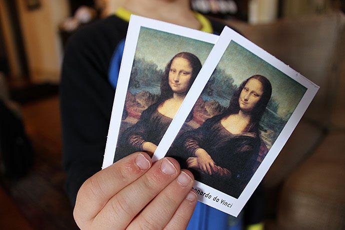Art History matching game - free printable