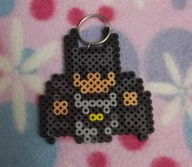 Perler Bead Mini Batman Key Chain by SAMorICrafts on Etsy