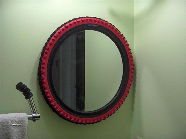 bike tire mirror