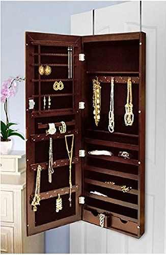 Wall Mirror Jewelry Box 69 best wall and overdoor jewelry organizers - jewelry boxes too