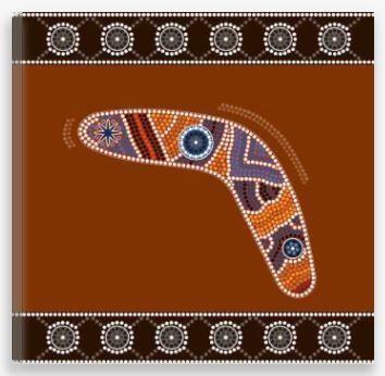 Aboriginal Artwork Print – Boomerang