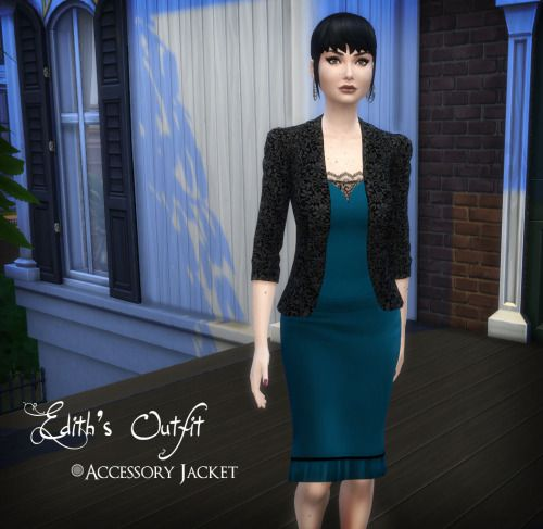 ameranthe:  Edith's OutfitEdith's Outfit is four separate pieces:Sweetheart BlouseFitted Pencil Skirt (New Mesh)Lace Cami Accessory (Gloves)Recolored Accessory Jacket (Bracelets)Each of the items comes in a variety of my Midnight Palette colors. Jacket requires this mesh by LexiconLuthor, who is amazing. Sorry I got a little lazy with the preview pics, but that just means it's all a surprise!Download  /The cami is awesome!