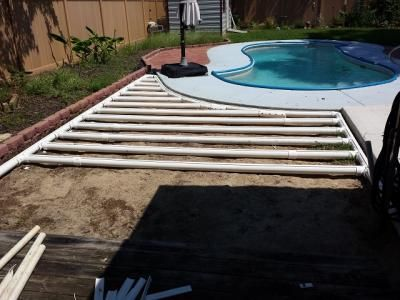deck made of pvc pipes