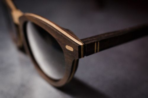 Wood wafer glasses... Just see and cry wooden glasses frames. Sooo awesome!