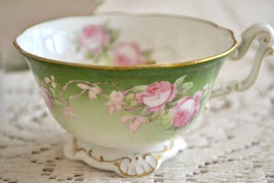 Gorgeous tea cup with roses