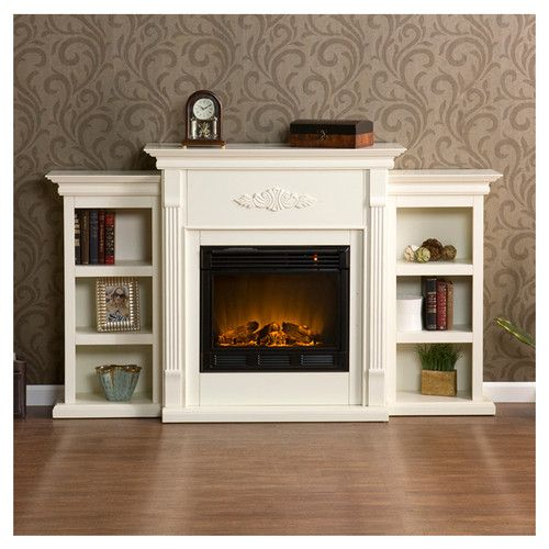Found it at Wayfair - Conway Electric Fireplace with Bookcases