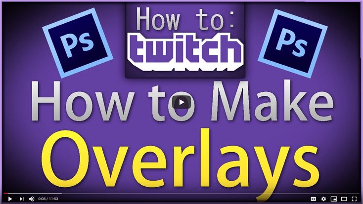 How to make twitch overlays with latest twitch