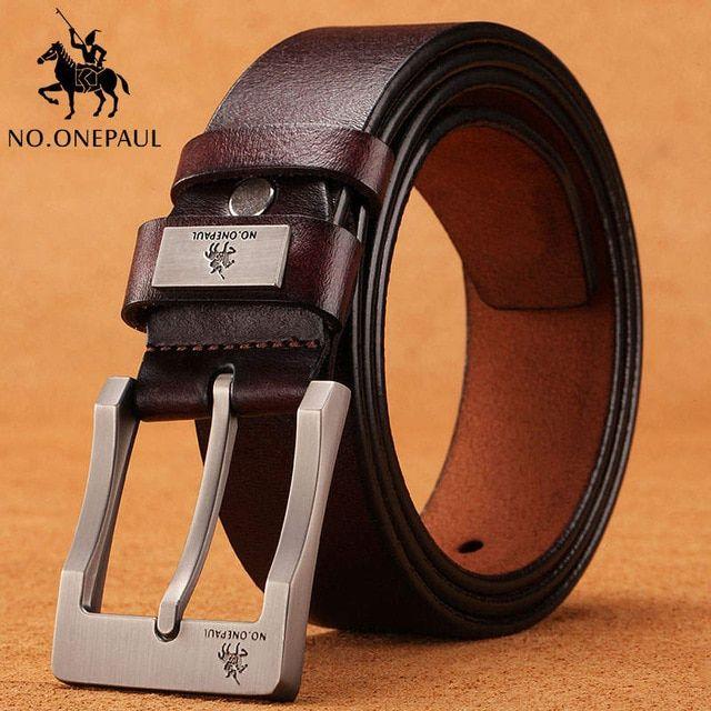 Genuine Leather 110cm//120cm Belt Men/'s Belts Waistband Waist Strap Pin Buckle