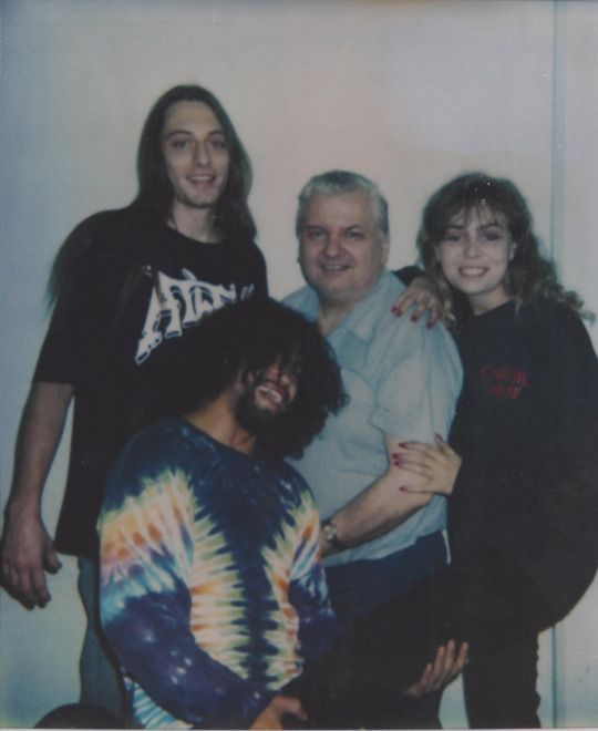 Me (top left), Derek and Jocelyn visiting with John Wayne Gacy on death row. Taken 20 years ago next week. November 1993 in Menard, IL.