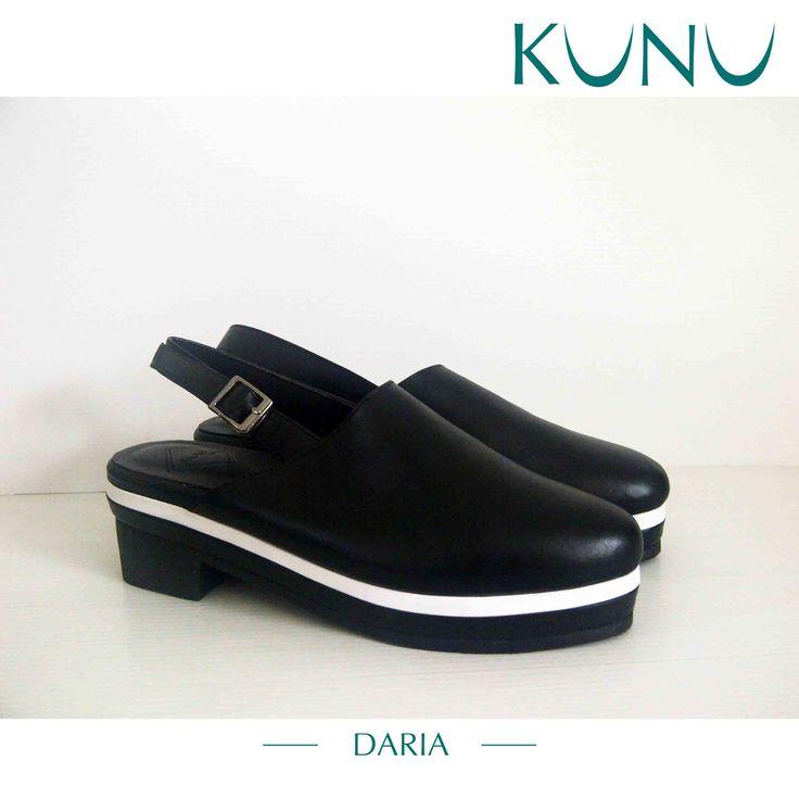 Daria Ankle strap Sandal Black Heels Kunu Looks