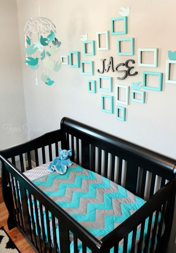 Baby boy nursery-- this is actually really   cute! change up the colors for a girl or neutral nursery...