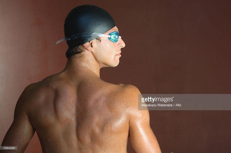 Foto stock : Portrait of a Male Swimmer