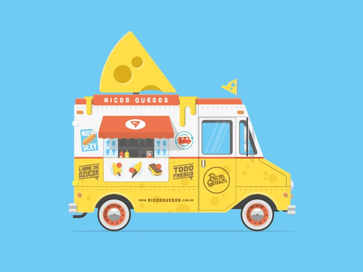 Some time ago we did a sketch of this beautiful food truck. Personally if I see this on the street I become mad. Attached you can see it bigger and the sketch :D