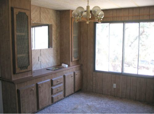interior designer's manufactured home remodel - before and after photos of manufactured home remodel - dining area before