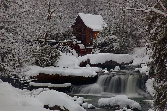 Old Mill.Winter Snow, States Parks, Nature Pictures, Virginia Gristmil, West Virginia, Beautiful, Winter Wonderland, Wintersnow, Grist Mills