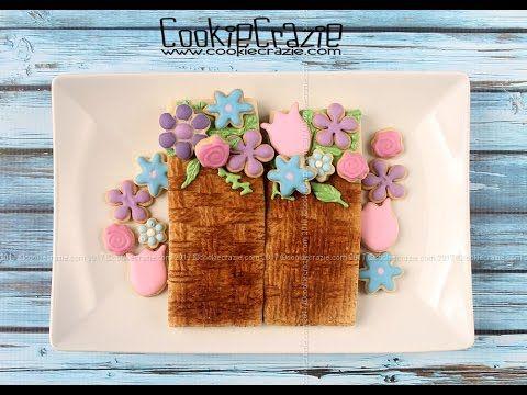 Basket of Spring Flowers Decorated Cookie Tutorial